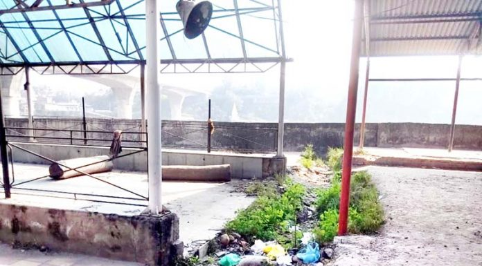 A part of Jogi Gate cremation ground in dilapidated condition.