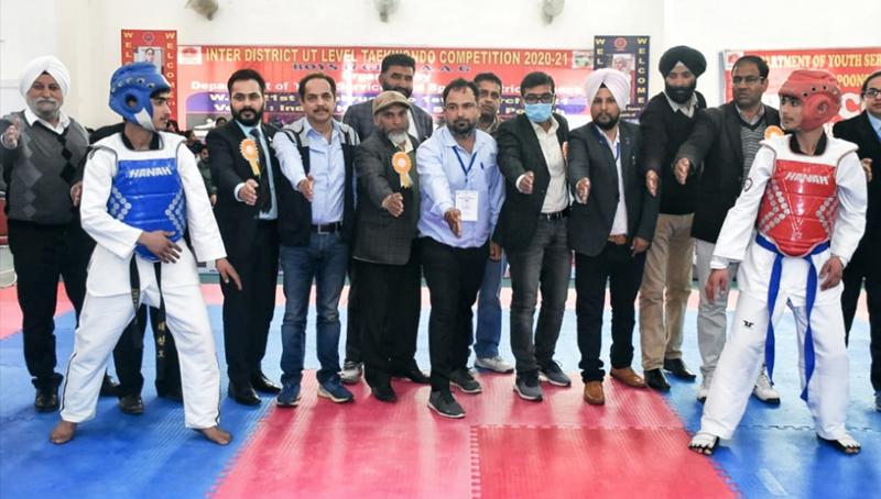 DDC Rahul Yadav declaring open Inter-District UT level Taekwondo Championship at Poonch.