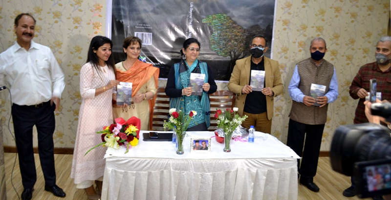 Dignitaries during a book release function in New Delhi on Tuesday.