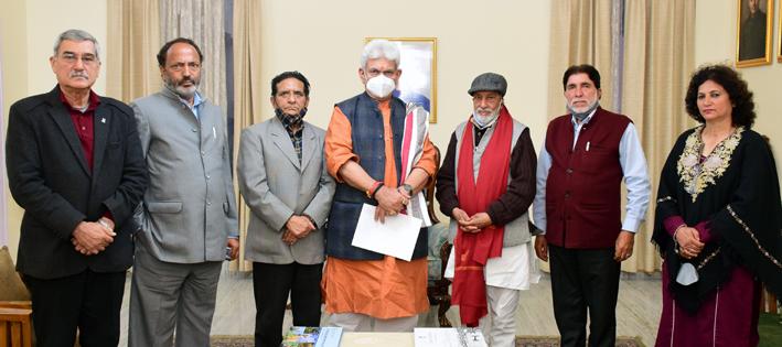JKNPP delegation with Lt Governor.