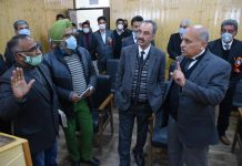 Chief Justice during visit to court complex at Pampore.