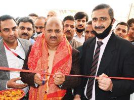 J&K Bank President Ashutosh Sareen and former Minister Dr Devinder Kumar Manyal inaugurating EBU.