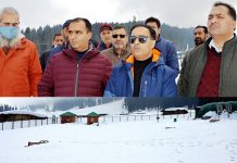 Director Tourism Dr G N Itoo along with DDC Shahbaz Ahmed during visit to Doodhpathri.