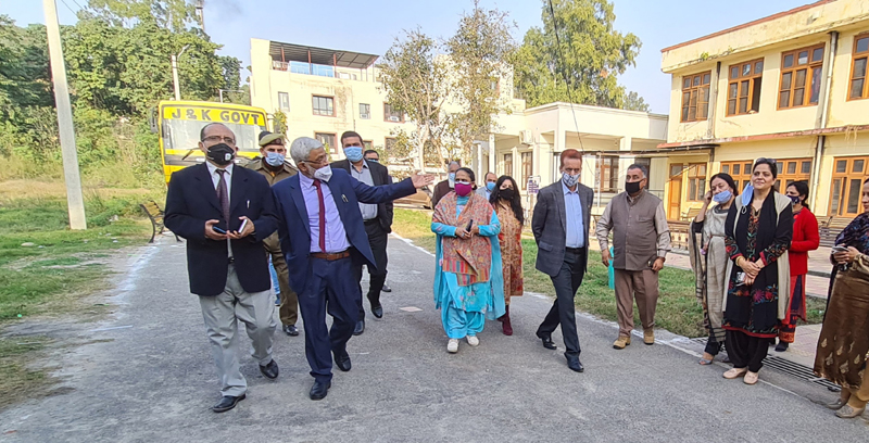 VC Cluster University during visit to Govt College of Education Jammu on Tuesday.