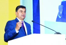 Minister of State for Power, New & Renewable Energy (Independent Charge) and Skill Development & Entrepreneurship, R K Singh addressing at the inauguration of the International Commission on Large Dams (ICOLD) Symposium on Sustainable Development of Dams & River Basins, in New Delhi on Wednesday.