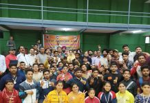 Winners posing for a group photograph with Secretary J&K Sports Council, Nuzhat Gul at Jammu University.