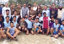 SSP Udhampur-Sargun Shukla posing for a group photograph with winners & dignitaries at Udhampur.