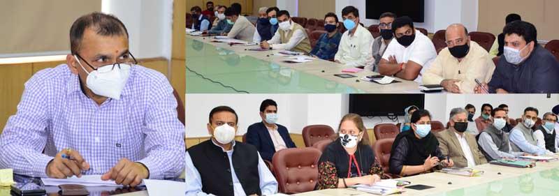 Principal Secretary to Lt Governor, Nitishwar Kumar reviews progress on works in various departments.