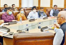 Pr. Secy PDD Rohit Kansal reviewing summer preparedness of Deptt in a meeting at Jammu on Saturday.
