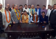 Romesh Chander Gupta taking over as president of Jammu Central Mahajan Sabha on Monday.