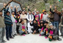 NAUP team posing for a group photograph during a visit to remote areas of Ramban.