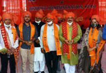 DDC Chairman Saraf Singh Nag alongwith others during Chaitra Navratri Festival at Katra.