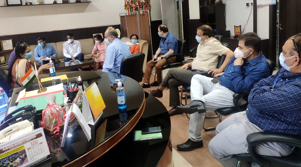 GMC Principal Dr Shashi Sharma chairing a meeting of HoDs in Jammu on Wednesday.