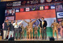 Dignitaries declaring winner of IBBFF Mr and Miss J&K Championship.