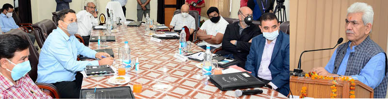 Lt Governor reviews issues of water resources development and management in Jammu.