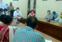 Div Com Jammu chairing a meeting on Friday.