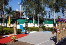 CRPF personnel during Valour Day celebrations.