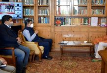 Lt Governor meeting Union Tourism Secretary.