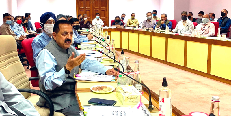 Union Minister Dr Jitendra Singh chairing the meeting of Parliamentary Consultative Committee for Ministry of Northeast/DoNER, at Vigyan Bhavan New Delhi on Thursday.