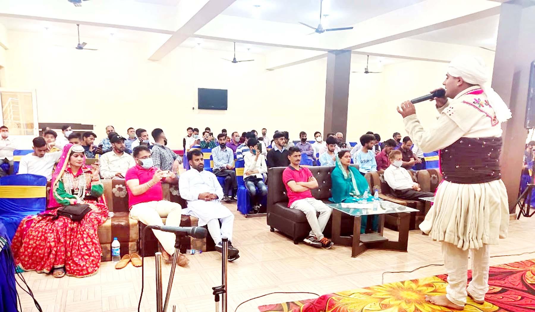 Members of Gaddi community during a programme to celebrate foundation day of Gaddi Sabha.
