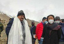 Principal Secretary, UT Ladakh, Dr Pawan Kotwal during visit to Nubra Sub-Division.
