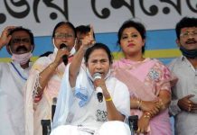 TMC supremo Mamata Banerjee during campaign for the State Assembly polls in Ranaghat, Nadia district.