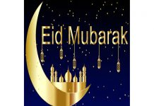 Eid greetings to all our readers