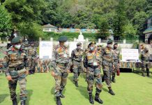 Chief of Army Staff General M M Naravane during his visit to White Knight Corps in Jammu on Wednesday. (UNI)
