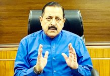 Union Minister Dr Jitendra Singh holding a high level on-line meeting with Chief Secretaries, Health Secretaries and Planning Secretaries of all the eight North Eastern States, on Tuesday.