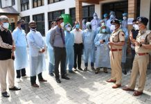 DGP Dilbag Singh reviewing COVID situation.