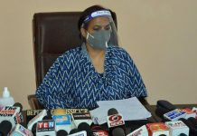 DC, Samba Anuradha Gupta talking to reporters on Thursday. — Excelsior/Nischant