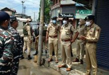 DGP Dilbag Singh during visit to South Kashmir's Anantnag district.