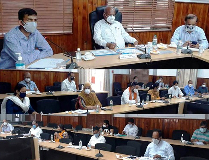 DDC Chairman Jammu chairing a meeting on Wednesday.