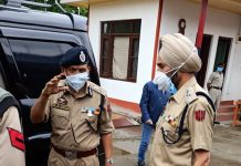 DGP Prisons J&K VK Singh during visit to Central Jail Srinagar.