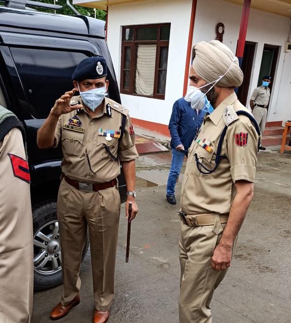 DGP Prisons J&K VK Singh during visit to Central Jail Srinagar.