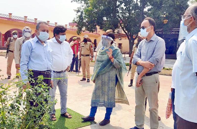 DC Samba during visit to Ghagwal.