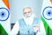 Prime Minister, Narendra Modi delivers keynote address at the 5th edition of VivaTech, through video conferencing, in New Delhi on Wednesday.