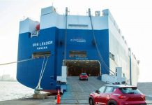 All New Nissan Magnite SUVs being boarded on ship for export purpose.