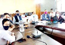 A view of DDC Anantnag meeting. -Excelsior/Sajad Dar
