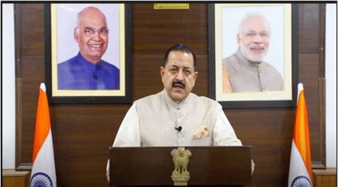 Union Minister Dr Jitendra Singh addressing United Nations General Assembly on Saturday.