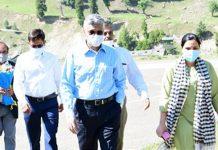 Union Secretary RT&H, during visit to Sonamarg on Wednesday.