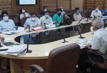Principal Secretary, PDD Rohit Kansal reviews progress on CSS projects during meeting in Jammu on Saturday.