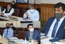 Chief Secretary, Dr Arun Kumar Mehta chairing 3rd UT-Level Bankers' Committee meeting on Wednesday.
