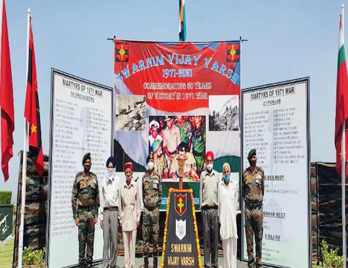 KG Brigade and ex-servicemen jointly celebrating Swarnim Vijay Varsh of 1971 war.