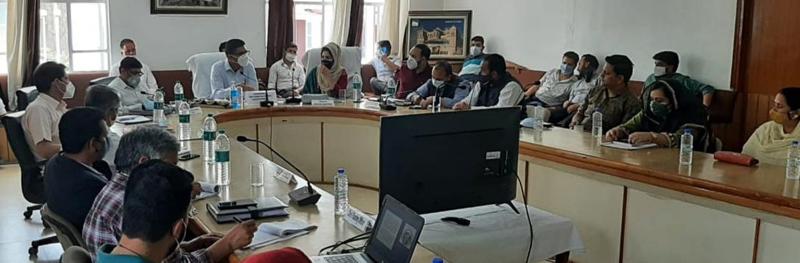 Secretary Tribal Affairs, Dr Shahid Iqbal Choudhary chairing a meeting on Wednesday.