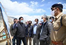 Advisor Umang Narula taking stock of possibilities of Kargil Airport expansion.