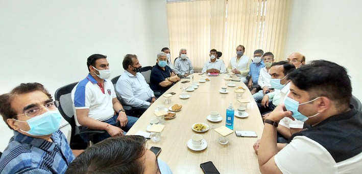 Members of SAJP during meeting with BIS Head.