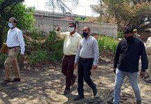 JMC Mayor CM Gupta during visit to heritage Railway site at Jammu on Thursday.