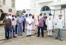 JKSAC members at a meeting in Jammu on Monday.