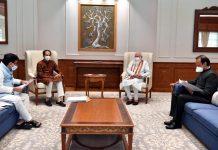 Maharashtra Chief Minister, Uddhav Thackeray, Deputy Chief Minister, Ajit Pawar calling on Prime Minister, Narendra Modi, in New Delhi on Tueaday. (UNI)